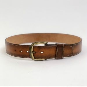 Vintage Levis Leather Hand Stained USA Wide Belt